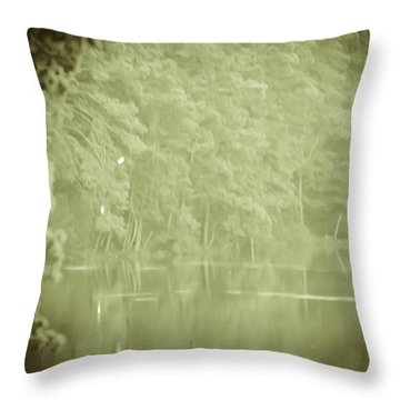 Through The Trees Throw Pillow by Kim Henderson