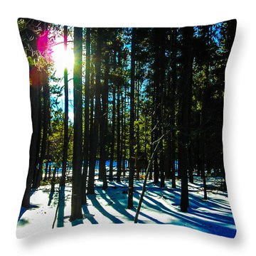 Throw Pillow featuring the photograph Through The Trees by Shannon Harrington