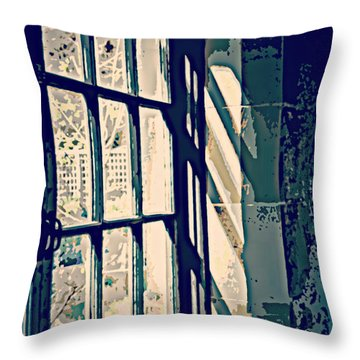 Throw Pillow featuring the photograph View Through The Window - Painterly Effect by Marilyn Wilson