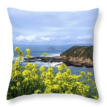 Through Yellow Flowers Throw Pillow