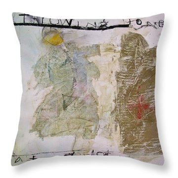 Throw Pillow featuring the painting Throwing Stones At My World by Cliff Spohn