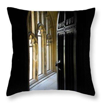 Thru The Chapel Door Throw Pillow by Cindy Manero