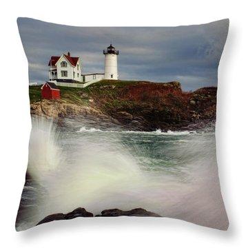 Thundering Tide Throw Pillow