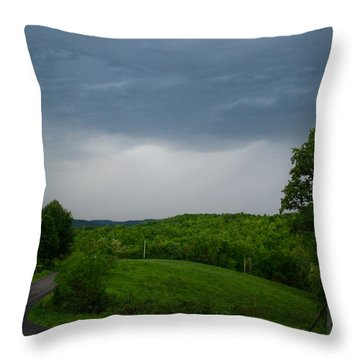 Throw Pillow featuring the photograph Thunderstorm by Kathryn Meyer