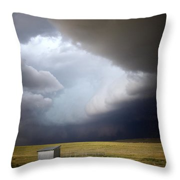 Thunderstorm Over The Plains Throw Pillow by Ellen Heaverlo