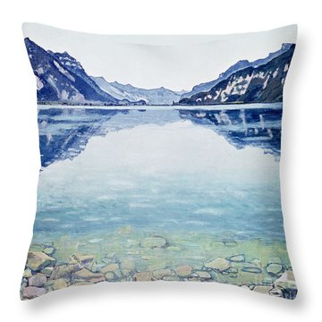 Thunersee Von Leissigen Throw Pillow