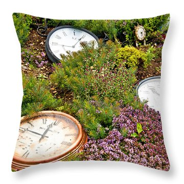 Thyme And Time Throw Pillow by Chris Thaxter