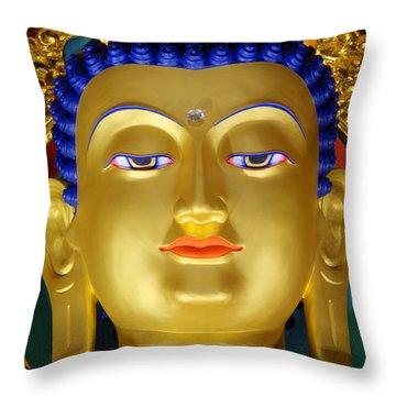 Tibetan Bhudda 3 Throw Pillow by Bob Christopher