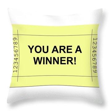 Ticket Yellow Throw Pillow