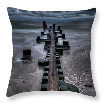 Tidal Movement Throw Pillow by Nick  Shirghio