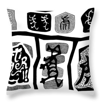 Tiger Characters Evolution2 Throw Pillow by Ousama Lazkani