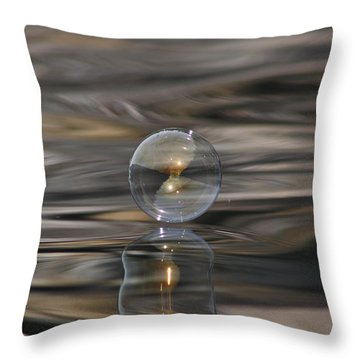Tiger Water Bubble Throw Pillow