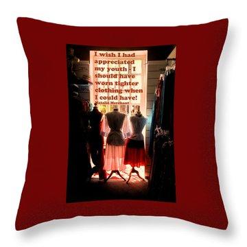 Tighter Clothing Throw Pillow by Ian  MacDonald