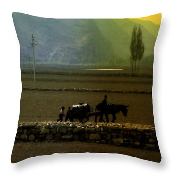 Throw Pillow featuring the photograph 'til The Day Is Done by Lydia Holly