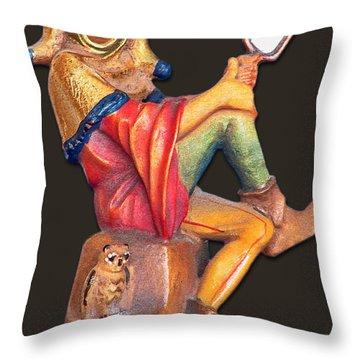 Till Eulenspiegel - The Merry Prankster Throw Pillow by Christine Till