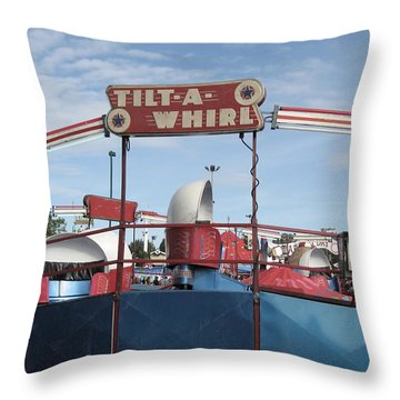 Tilt A Whirl Ride Throw Pillow