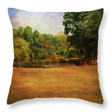 Timbers Pond Throw Pillow by Jai Johnson