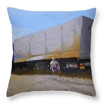 Time For Dinner. Throw Pillow