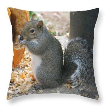 Throw Pillow featuring the photograph Time To Eat by Mark McReynolds