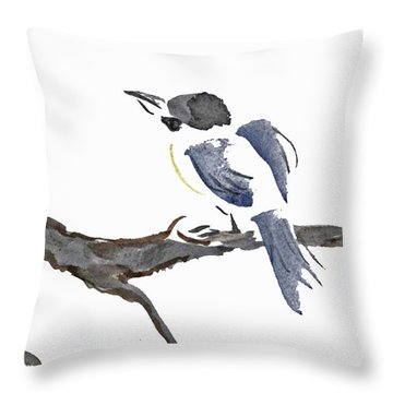 Time To Fly South Throw Pillow by Ellen Miffitt