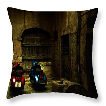 Time Travellers Throw Pillow by Andrew Paranavitana
