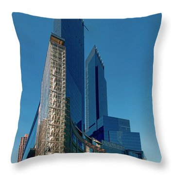 Time Warner Center Throw Pillow