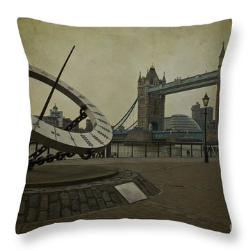 Timepiece. Throw Pillow by Clare Bambers