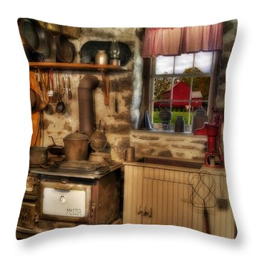 Times Gone By Throw Pillow by Susan Candelario