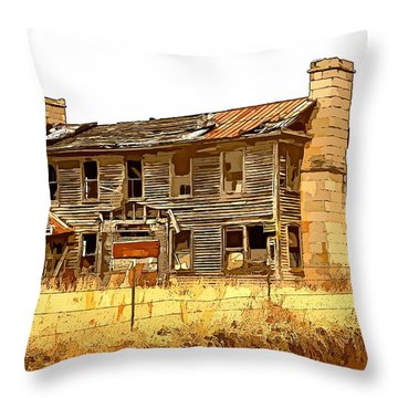 Times Past Abstract Throw Pillow by Marty Koch
