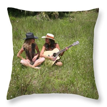 Tina And Susan 109 Throw Pillow