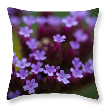 tiny blossoms II Throw Pillow