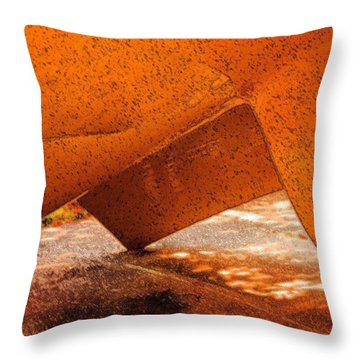 Tipping Point Throw Pillow by Marcia Lee Jones