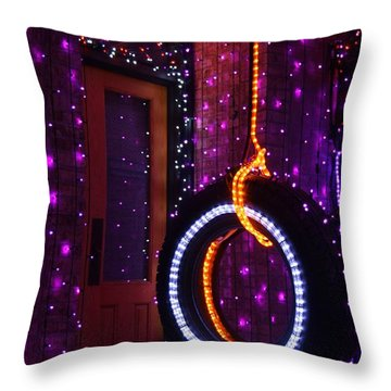 Tire Swing Throw Pillow by Ronnie Glover