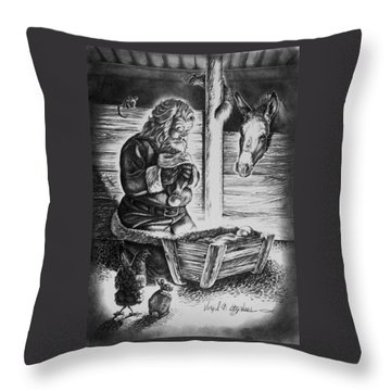 Tis The Reason For The Season Throw Pillow by Virgil Stephens