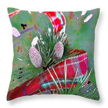 Throw Pillow featuring the digital art Tis The Season by Anne Mott