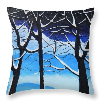 Throw Pillow featuring the painting Tis The Season by Dan Whittemore