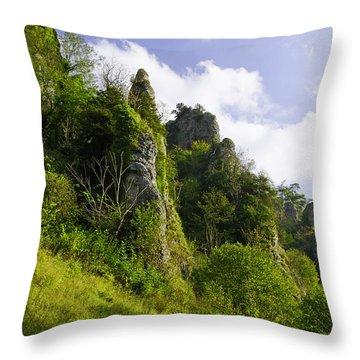 Tissington Spires Throw Pillow by Rod Johnson