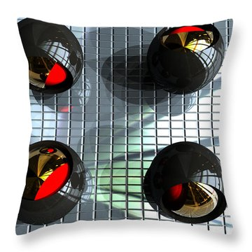 Titanium Olives Throw Pillow