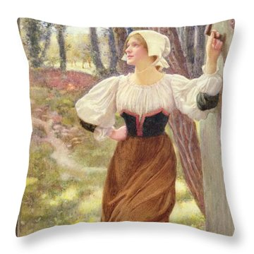 Tithe In Kind Throw Pillow by Edward Robert Hughes