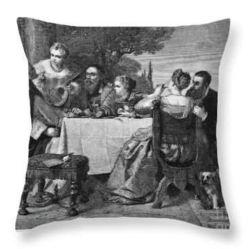 Titian (1477-1576) Throw Pillow by Granger