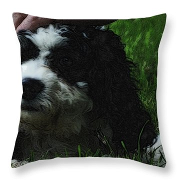 Throw Pillow featuring the photograph TLC by Lydia Holly