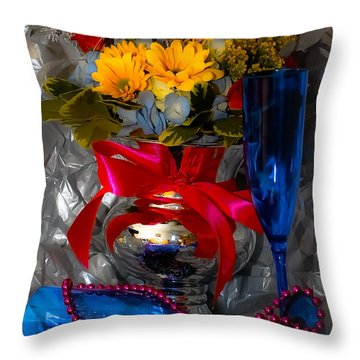 To 2012 Throw Pillow by DigiArt Diaries by Vicky B Fuller