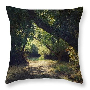 To My Happy Place Throw Pillow by Laurie Search