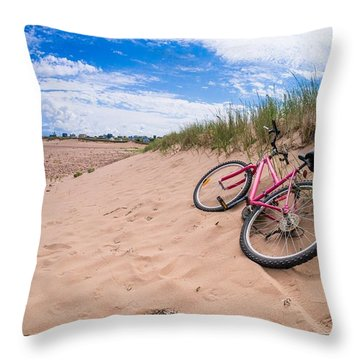 To The Beach Throw Pillow by Edward Fielding