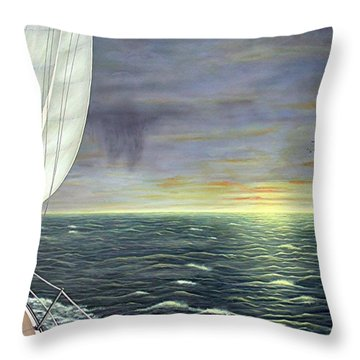 To The Breaking Sky Throw Pillow by Jim Ziemer