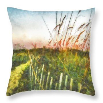 To The Sea Throw Pillow by Lynne Jenkins