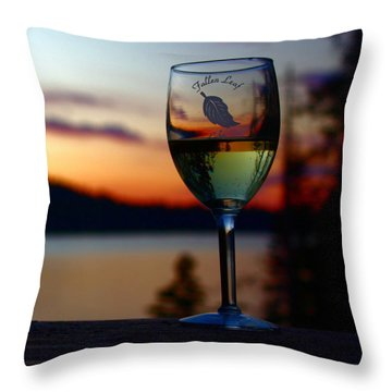 Toasting A Beautiful Evening Throw Pillow by Patrick Witz
