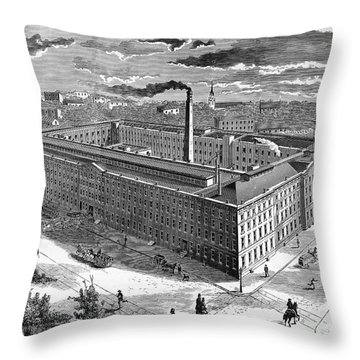 Tobacco Factory, 1876 Throw Pillow by Granger