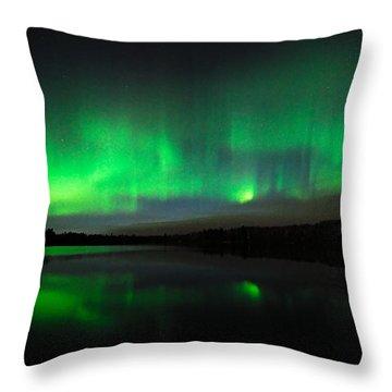 Tofte Lake Aurora Throw Pillow