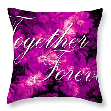 Together Forever Throw Pillow by Phill Petrovic